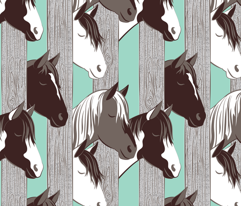 Waiting for the horse race // normal scale fabric by selmacardoso on Spoonflower - custom fabric