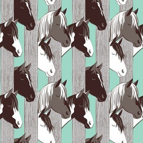 Waiting for the horse race // small scale // mint background