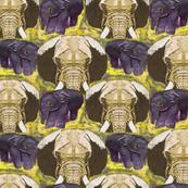 Endangered Elephant Sumatra Yellow