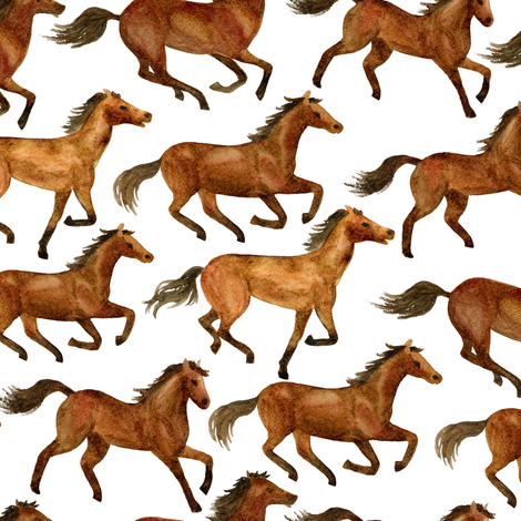 Horses fabric by svetlana_prikhnenko on Spoonflower - custom fabric