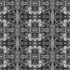 BN1 -  Marbled Mystery Tapestry in Monochromatic Grey - Small