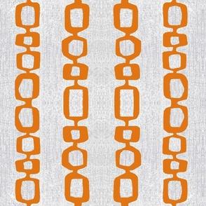 atomic links mid century orange gray