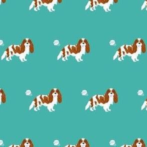 cavalier spaniel fart funny dog breed fabric teal
