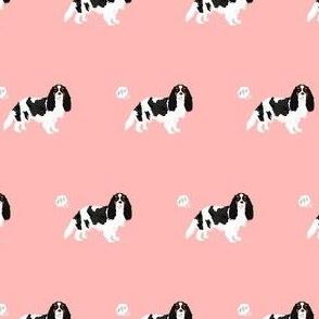 cavalier spaniel fart funny dog breed fabric pink