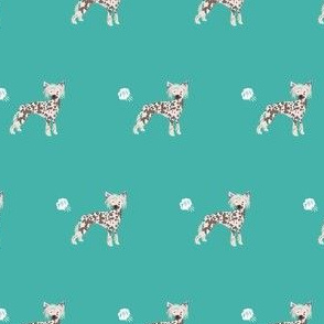 chinese crested fart funny dog breed fabric teal