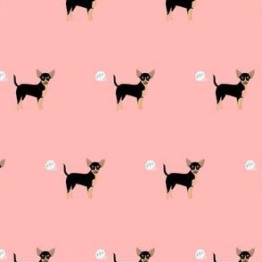 chihuahua fart funny dog breed fabric pink