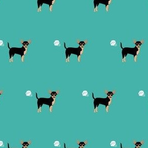 chihuahua fart funny dog breed fabric teal