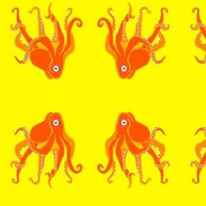 LG Orange Octopus Swim Meet on Yellow