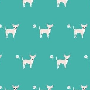 chihuahua fart funny white coat dog breed fabric teal