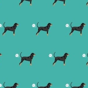 coonhound fart funny dog breed fabric teal