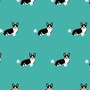corgi fart funny dog breed fabric welsh corgi tricolored teal