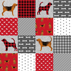 bloodhound  pet quilt a dog breed nursery fabric cheater quilt