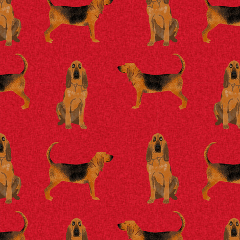bloodhound  pet quilt a dog breed nursery fabric coordinate  fabric by petfriendly on Spoonflower - custom fabric