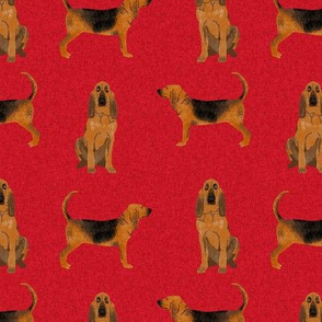 bloodhound  pet quilt a dog breed nursery fabric coordinate