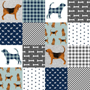 bloodhound  pet quilt b dog breed nursery fabric wholecloth cheater quilt