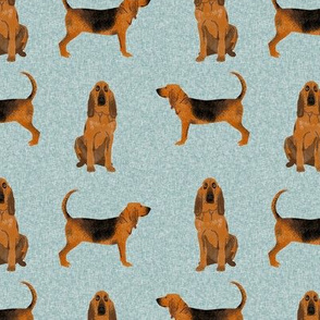 bloodhound  pet quilt b dog breed nursery fabric coordinate