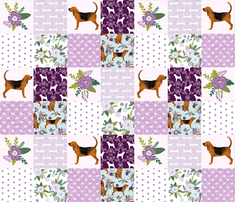 bloodhound  pet quilt c dog breed nursery fabric wholecloth cheater quilt fabric by petfriendly on Spoonflower - custom fabric