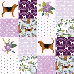 bloodhound  pet quilt c dog breed nursery fabric wholecloth cheater quilt