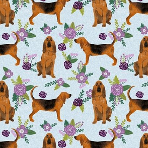 bloodhound  pet quilt c dog breed nursery fabric coordinate floral