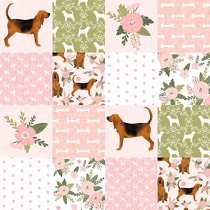 bloodhound  pet quilt d dog breed nursery fabric cheater quilt wholecloth