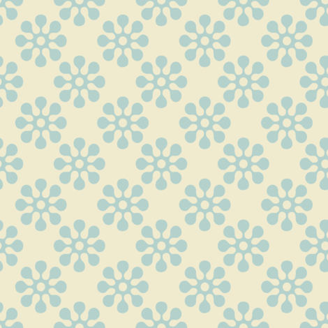 In the Meadow Stenciled Wallpaper fabric by anniedeb on Spoonflower - custom fabric