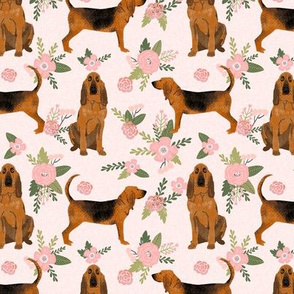 bloodhound  pet quilt d dog breed nursery fabric coordinate floral
