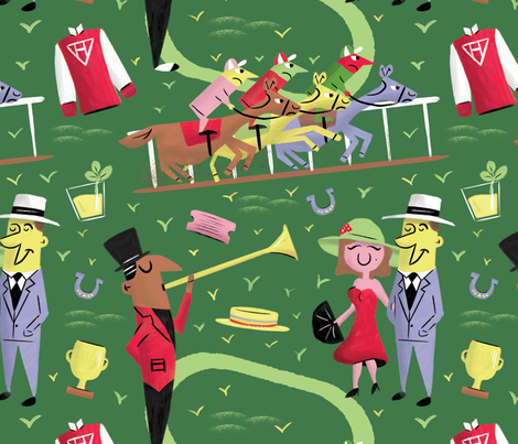 A Day At The Races fabric by dapperdino on Spoonflower - custom fabric