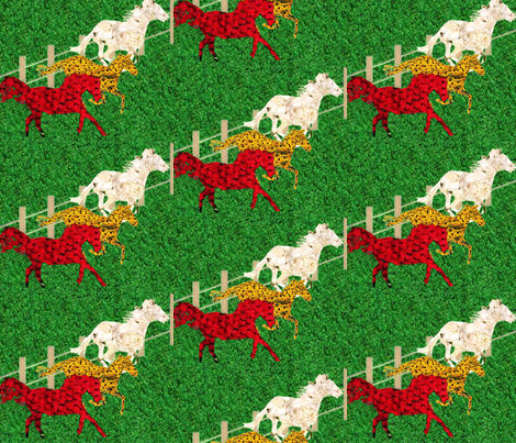 The race for the Triple Crown fabric by twilfley on Spoonflower - custom fabric