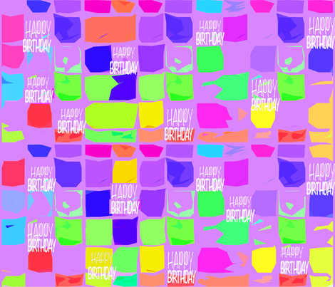 1-HAPPY BIRTHDAY TO YOU  fabric by soobloo on Spoonflower - custom fabric