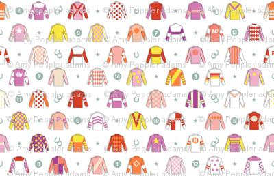 Jockey Around* || horse race races racing jockey horseshoe horseshoes uniform geometric stars