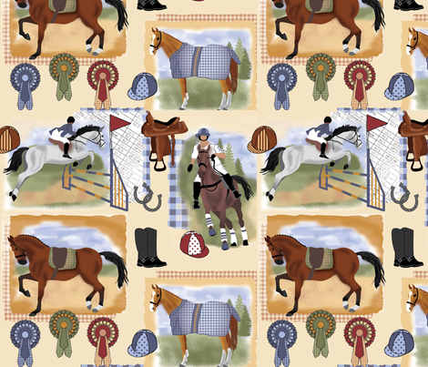 Day at the races-01 fabric by suzyspellbound on Spoonflower - custom fabric