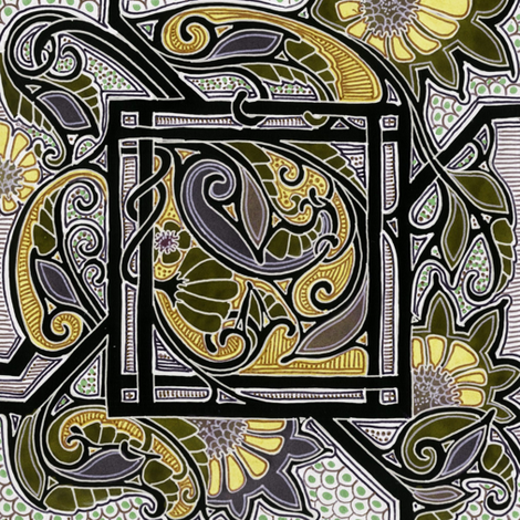 In King Midas' Square Garden  fabric by edsel2084 on Spoonflower - custom fabric