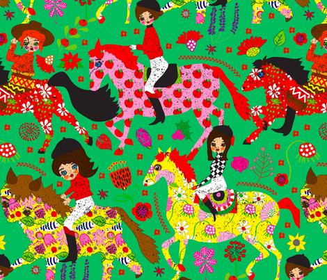 Julep Derby fabric by orangefancy on Spoonflower - custom fabric