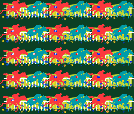 horserace fabric by scifiwritir on Spoonflower - custom fabric