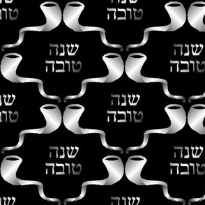 L'Shanah Tovah! Silver on Black