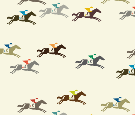 And They're Off fabric by katerhees on Spoonflower - custom fabric
