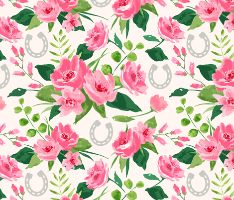 Run for the Roses fabric by sarah_treu on Spoonflower - custom fabric