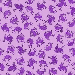 small mad purple frogs