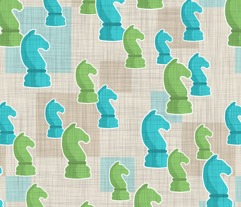 Off to the KNIGHT Races fabric by sew-me-a-garden on Spoonflower - custom fabric