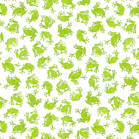 to market, to market, to buy a small green frog   fabric by weavingmajor on Spoonflower - custom fabric