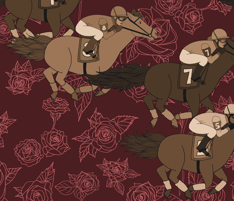 Race for the Roses fabric by irishvikingdesigns on Spoonflower - custom fabric