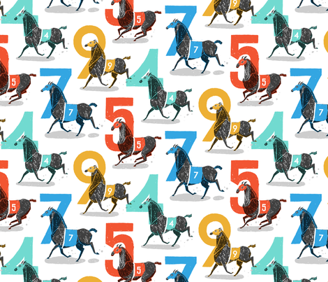 Race Horses fabric by danlehman on Spoonflower - custom fabric