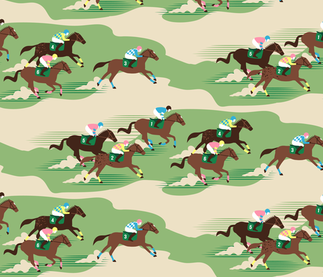 derby day fabric by hannahshields on Spoonflower - custom fabric