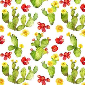 Bright Cacti - Large Print - Desert Cactus - Prickly Pear