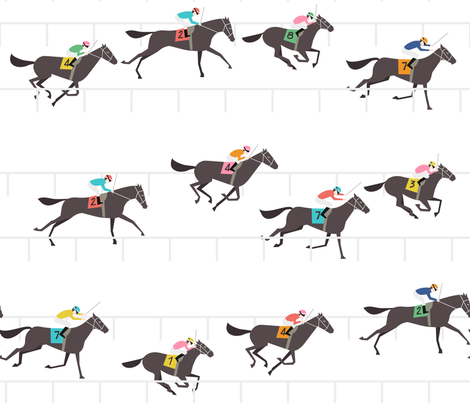 UnPato_Off to the Horse Races fabric by unpato on Spoonflower - custom fabric