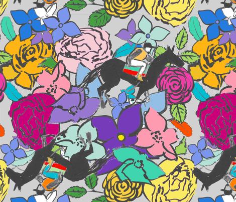 Roses Ascot  fabric by domoshar on Spoonflower - custom fabric