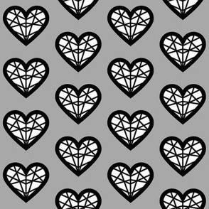 White & Gray Geometric Heart