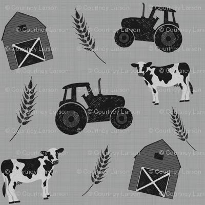 Farm - Monochrome