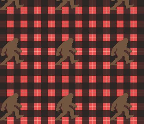 Big Foot solid buffalo plaid-red fabric by krystalsavage on Spoonflower - custom fabric