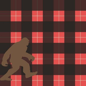 Big Foot solid buffalo plaid-red